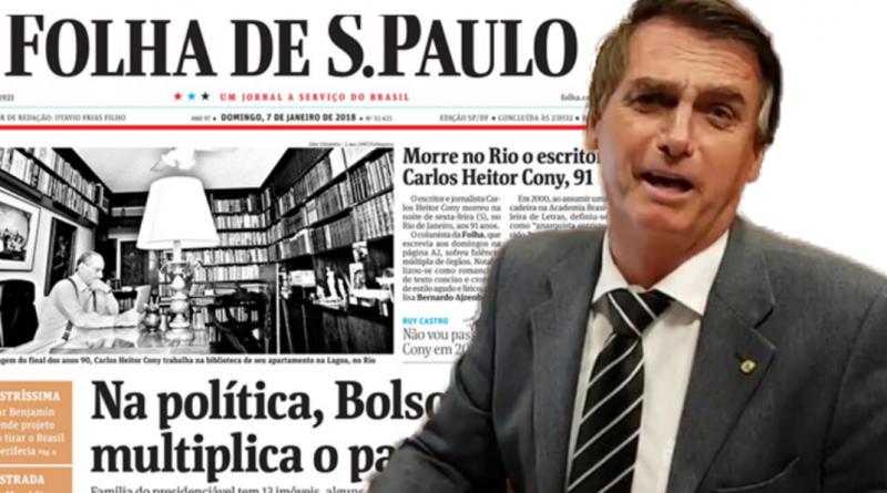 4877e7afda Ameaçada por Bolsonaro, Folha diz que presidente eleito não entende papel  da imprensa e Constituição   Bom Dia Feira